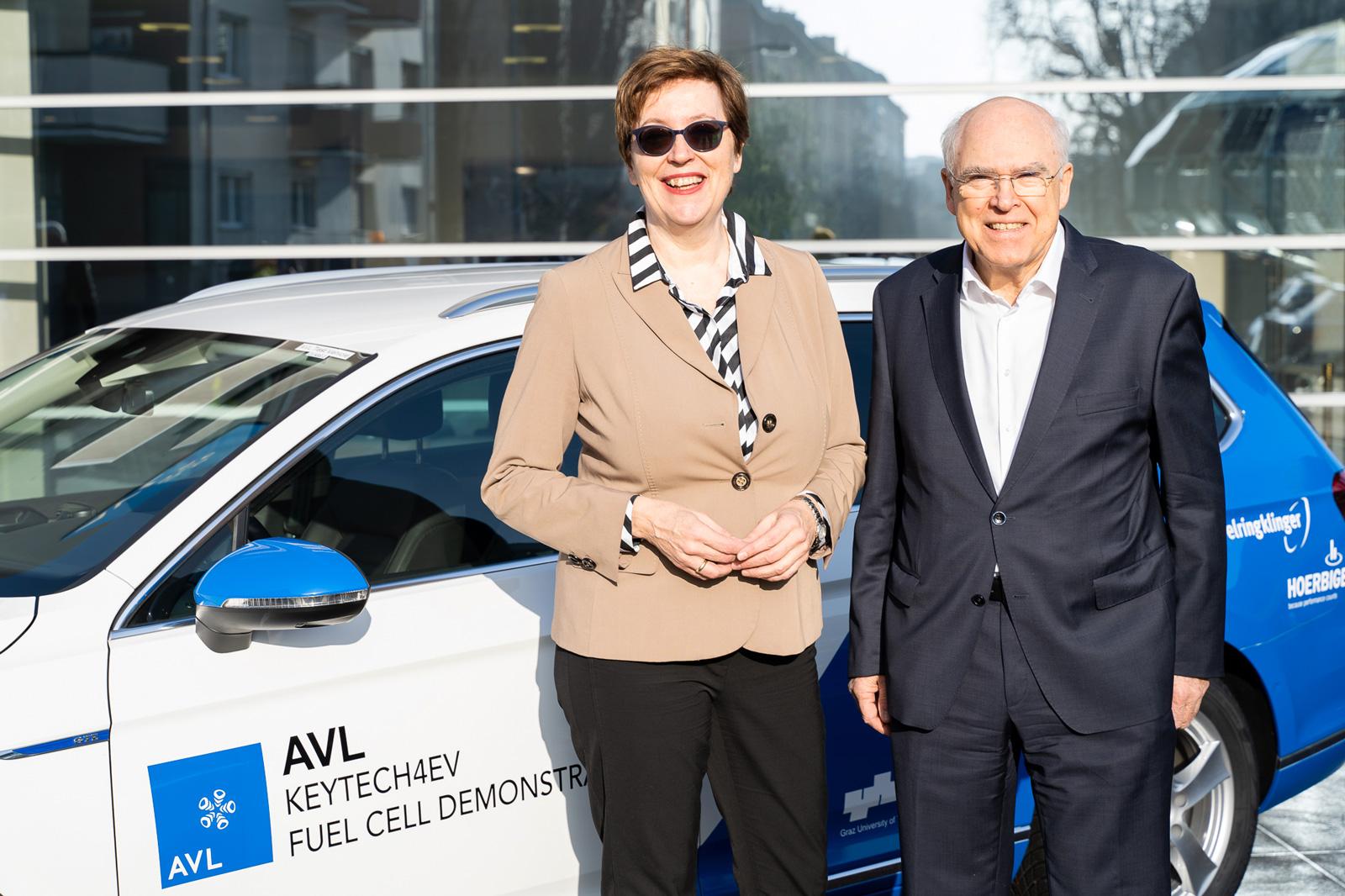 Theresia Vogel, Klima- und Energiefonds, Prof. Helmut List, CEO AVL