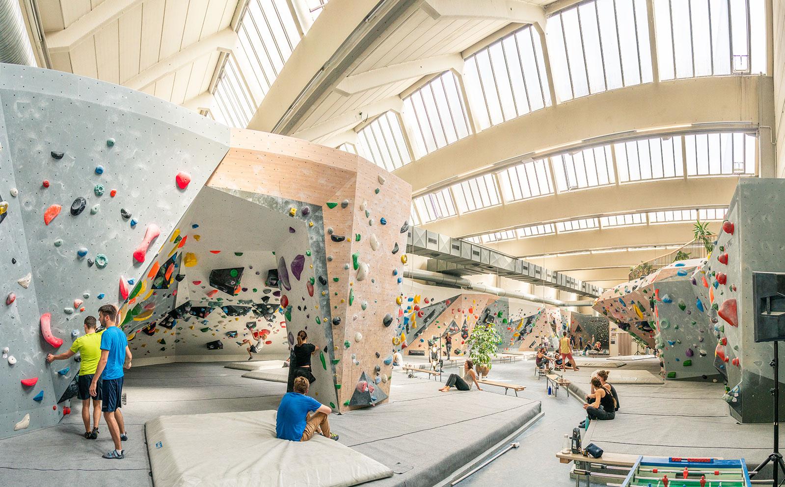 "Boulderhalle ""Blockfabrik"" in Wien"
