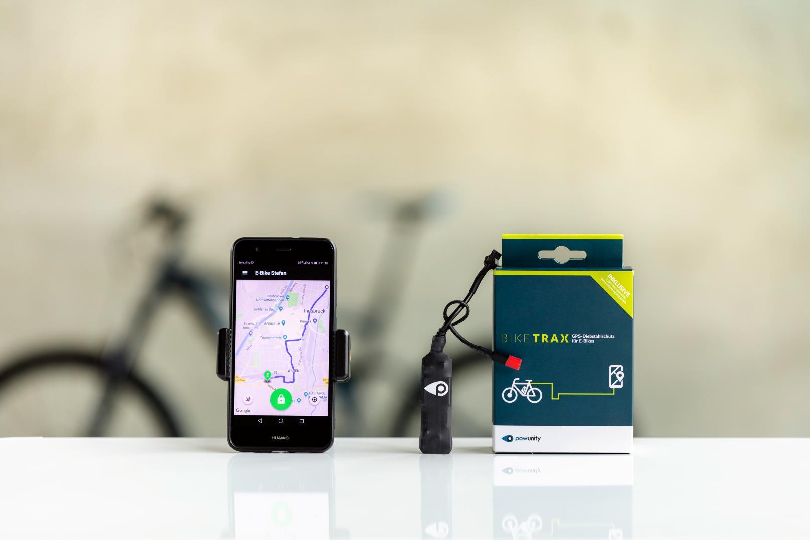 """Der GPS-Tracker """"BikeTrax"""" von PowUnity: So groß wie ein Feuerzeug"""