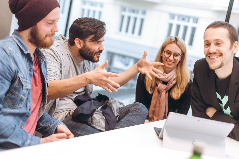 Gemeinsam zum Ziel: Im weXelerate wird der Open-Innovation-Ansatz gelebt.