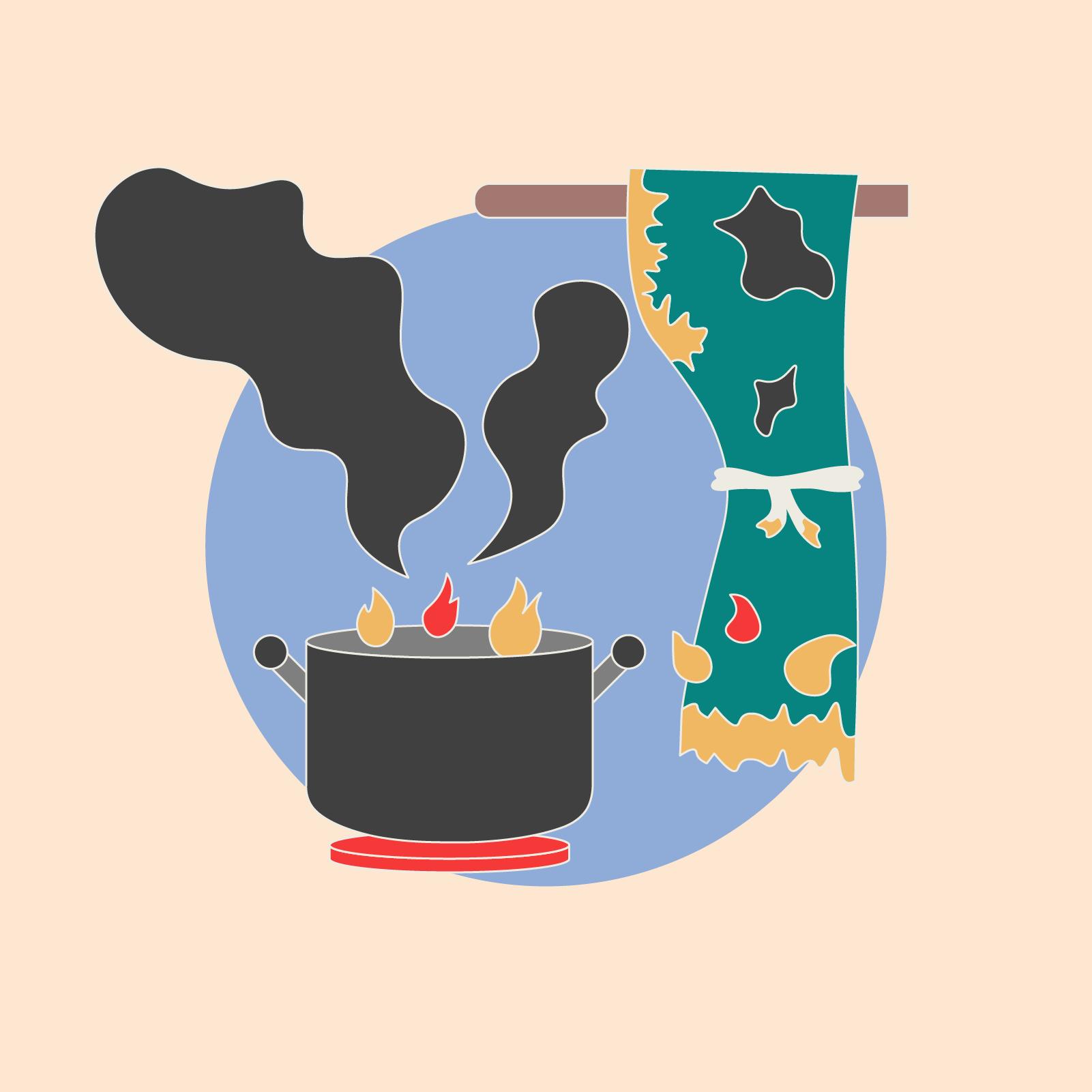 Gefahrenquelle Herd: ein Herdwächer kann Brände verhindern