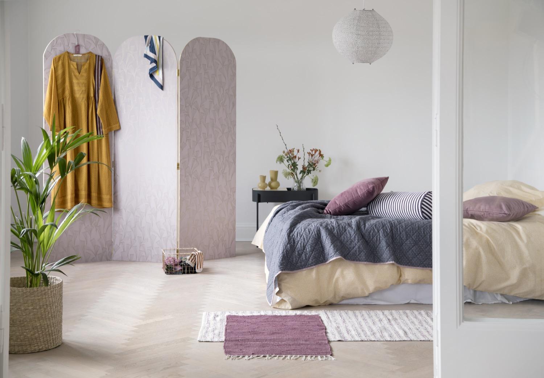Bonbonfarben: Die pastellfarbenen Bezüge von Sostrene Grene versüßen das Aufwachen am Morgen.