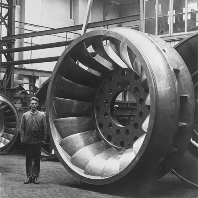 Francis Turbine: Laufrad von 1930 für das Kraftwerk Chippawa am Niagarafall