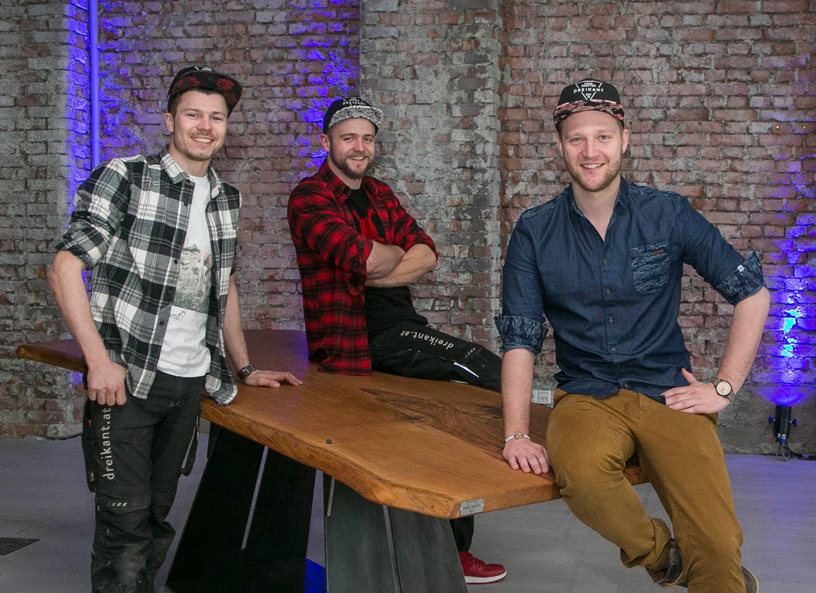 Die Dreikant-Gründer: Stefan Rehrl, Matthais Lienbacher, Mario Siller