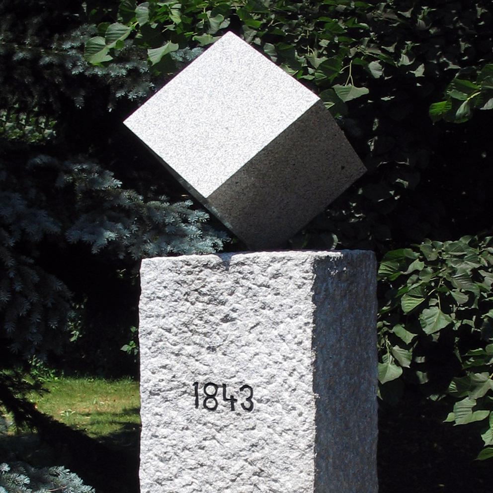 Ein Denkmal für den Zuckerwürfel in Dačice (Datschitz)