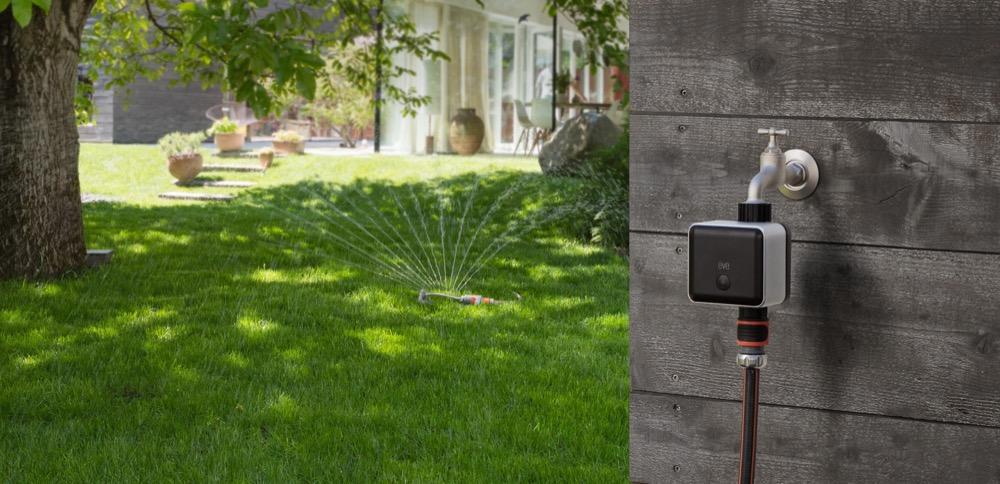 Einsteiger-System: Mit Eve Aqua lässt sich der Außenwasserhahn von unterwegs steuern.