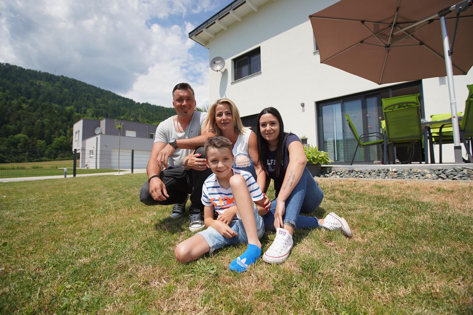 Familie Schweiger erfüllte sich den Traum von eigenen Haus mit Wüstenrot.