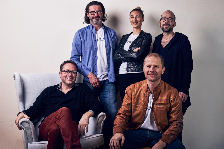 Das Gründerteam von Omni:us (v.l.): Martin Micko, Stephan Dorfmeister, Sofie Quidenus-Wahlforss, Harald Gölles und Eric Pfarl