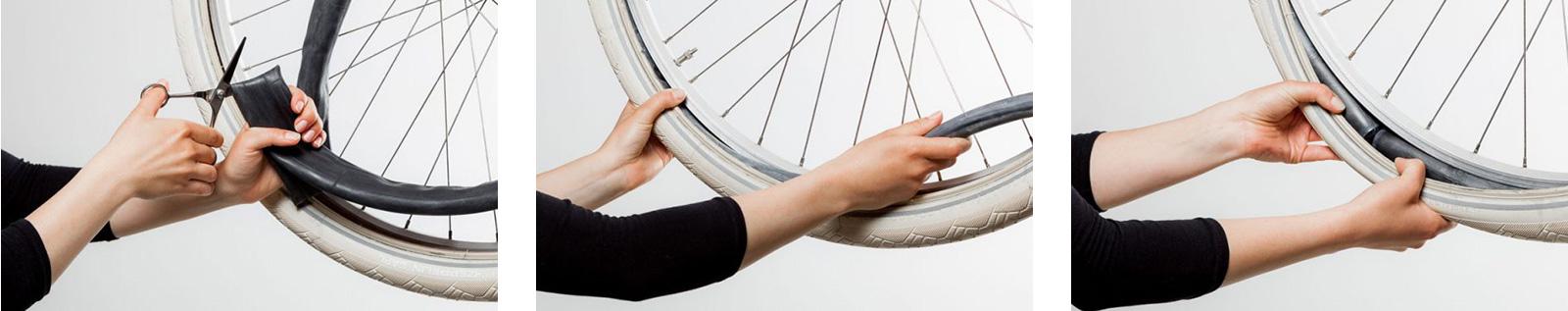 Praktisch: Schlauch wechseln, ohne das Rad abzumontieren.