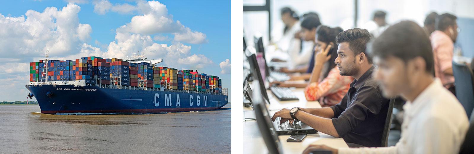 Globalisierte Produktion, Globalisierung von Dienstleistungen