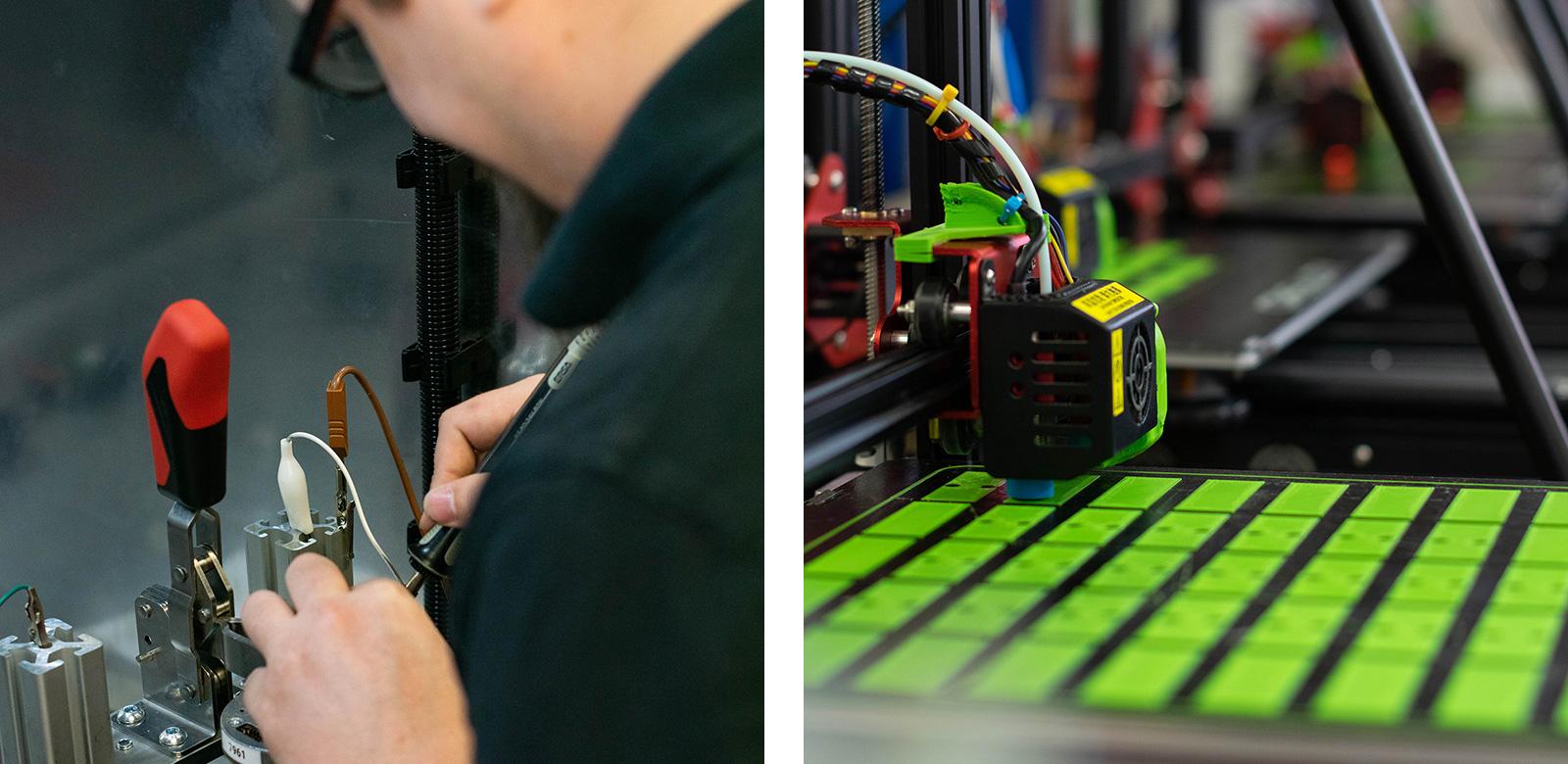 Herstellung von Sensoren bei Greenwood Power