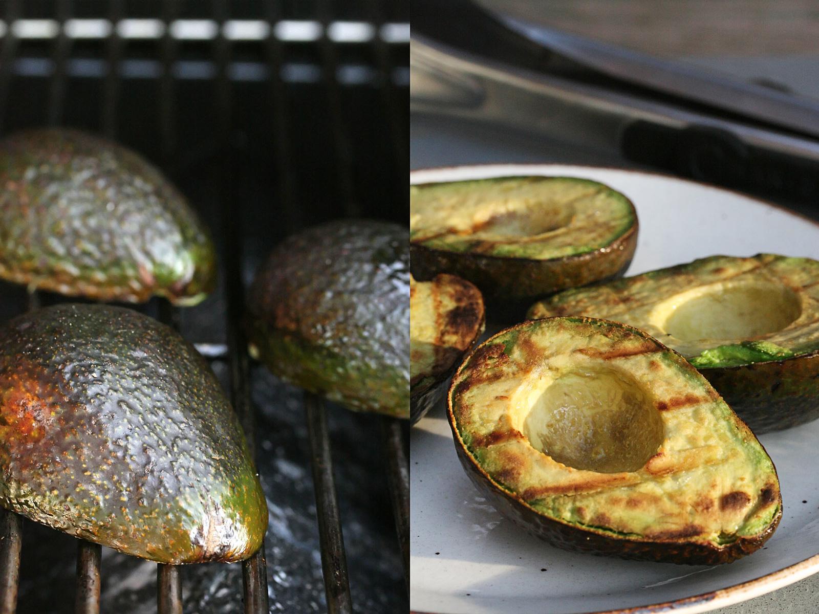 Mit pikanter Sauce noch leckerer: Gegrillte Avocados