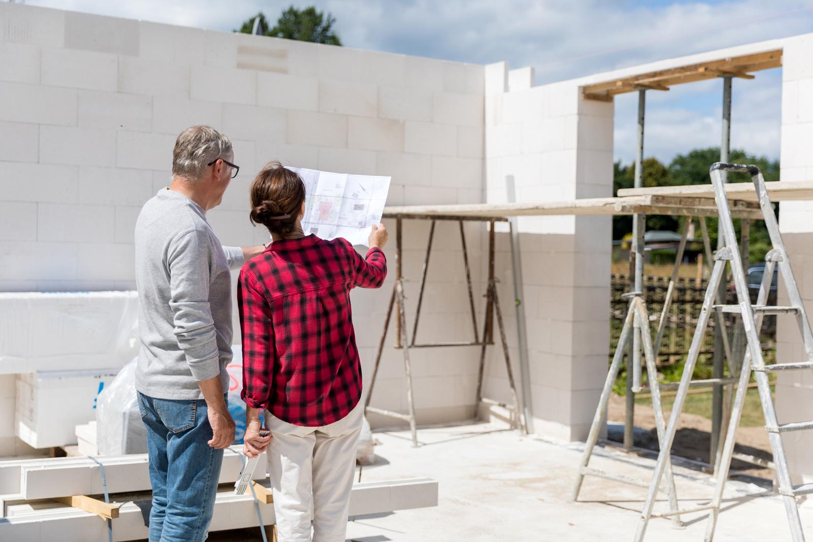 Ein Neubau kann nervenaufreibend sein.