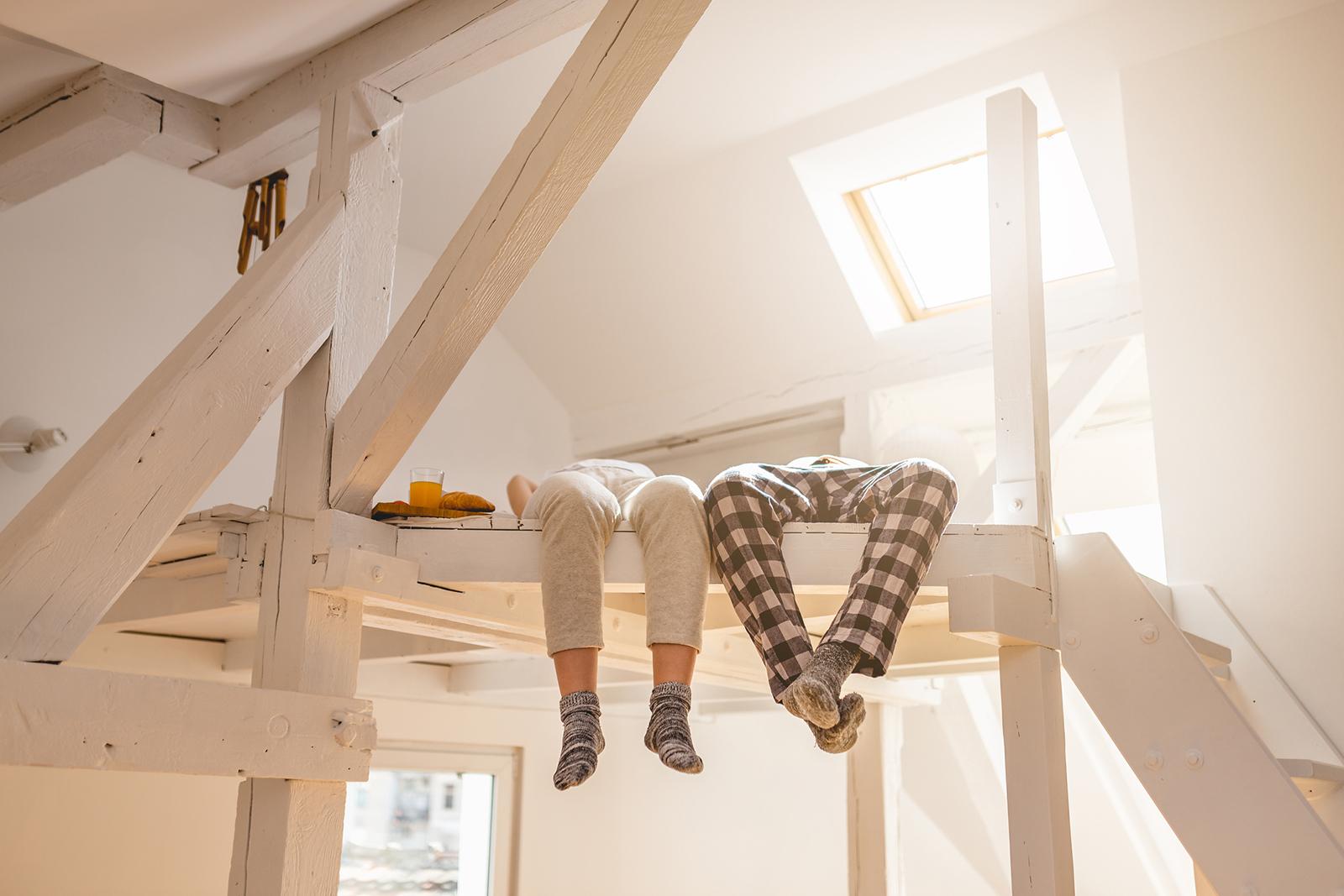 Luftig locker: Mit Zwischenebenen lässt sich der Raum bis in die Spitze nutzen.