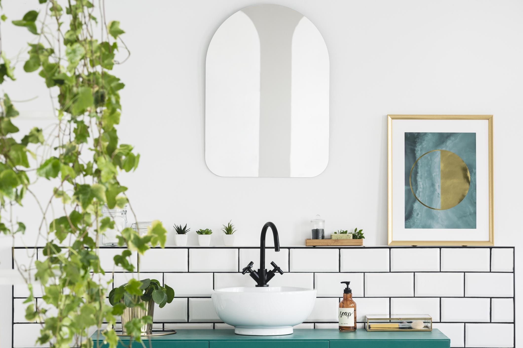 Gemütlich: Pflanzen im Bad sorgen für Wohnlichkeit im Bad.