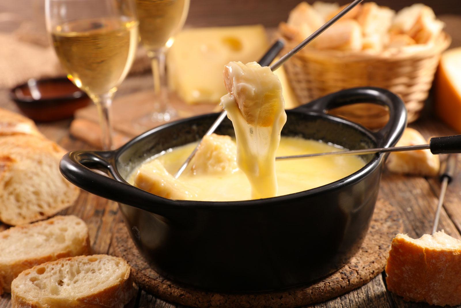 Alternative zum Weihnachtsbraten: Käsefondue