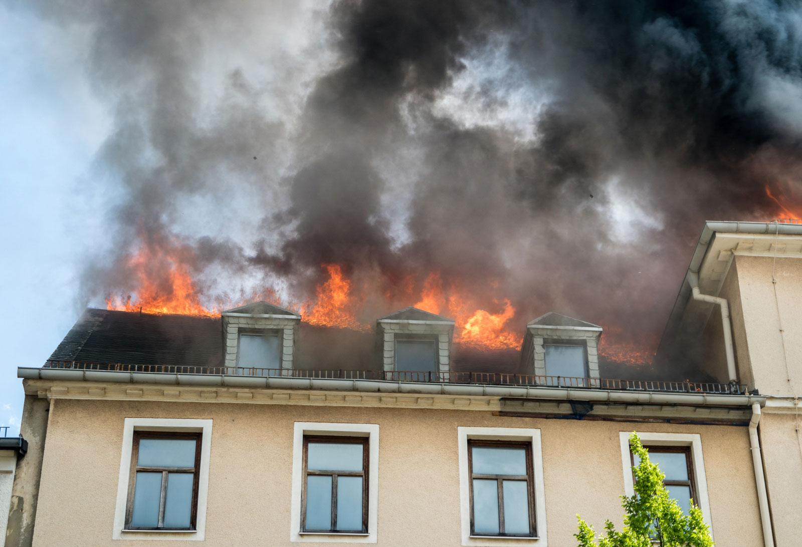 Bei einem Brand kann die gesamte Einrichtung verloren gehen.