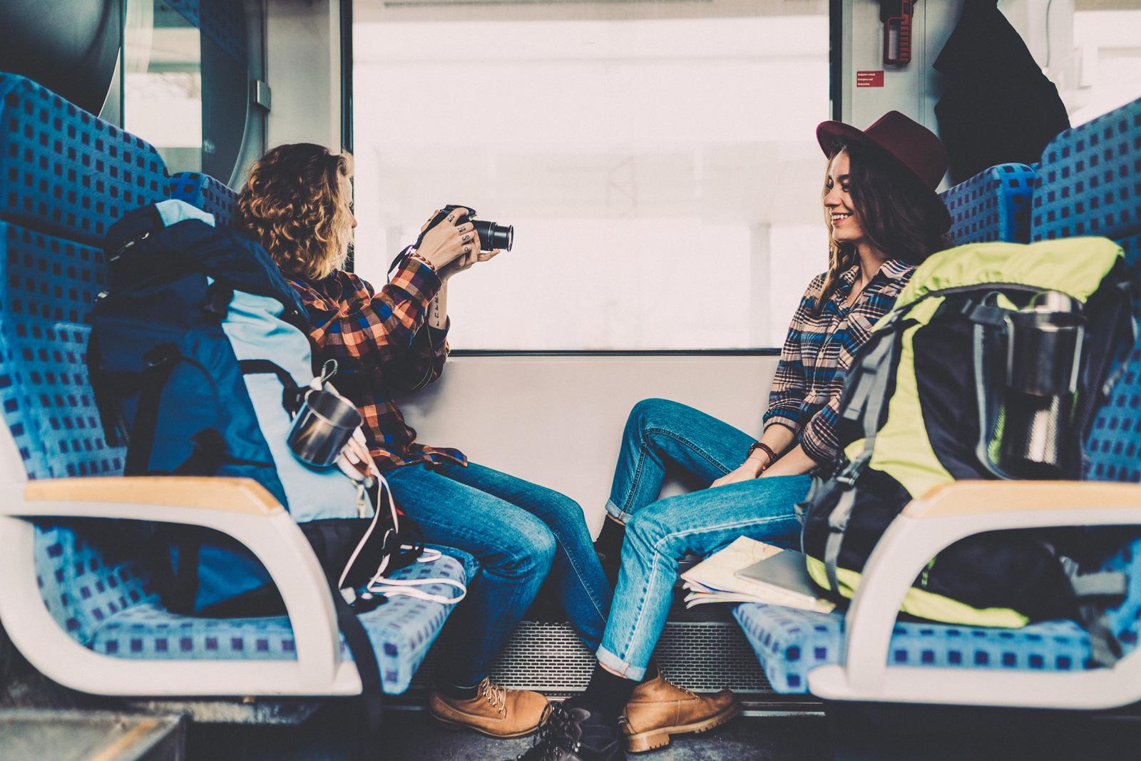 Zeit für Instagram: Bahnfahrt