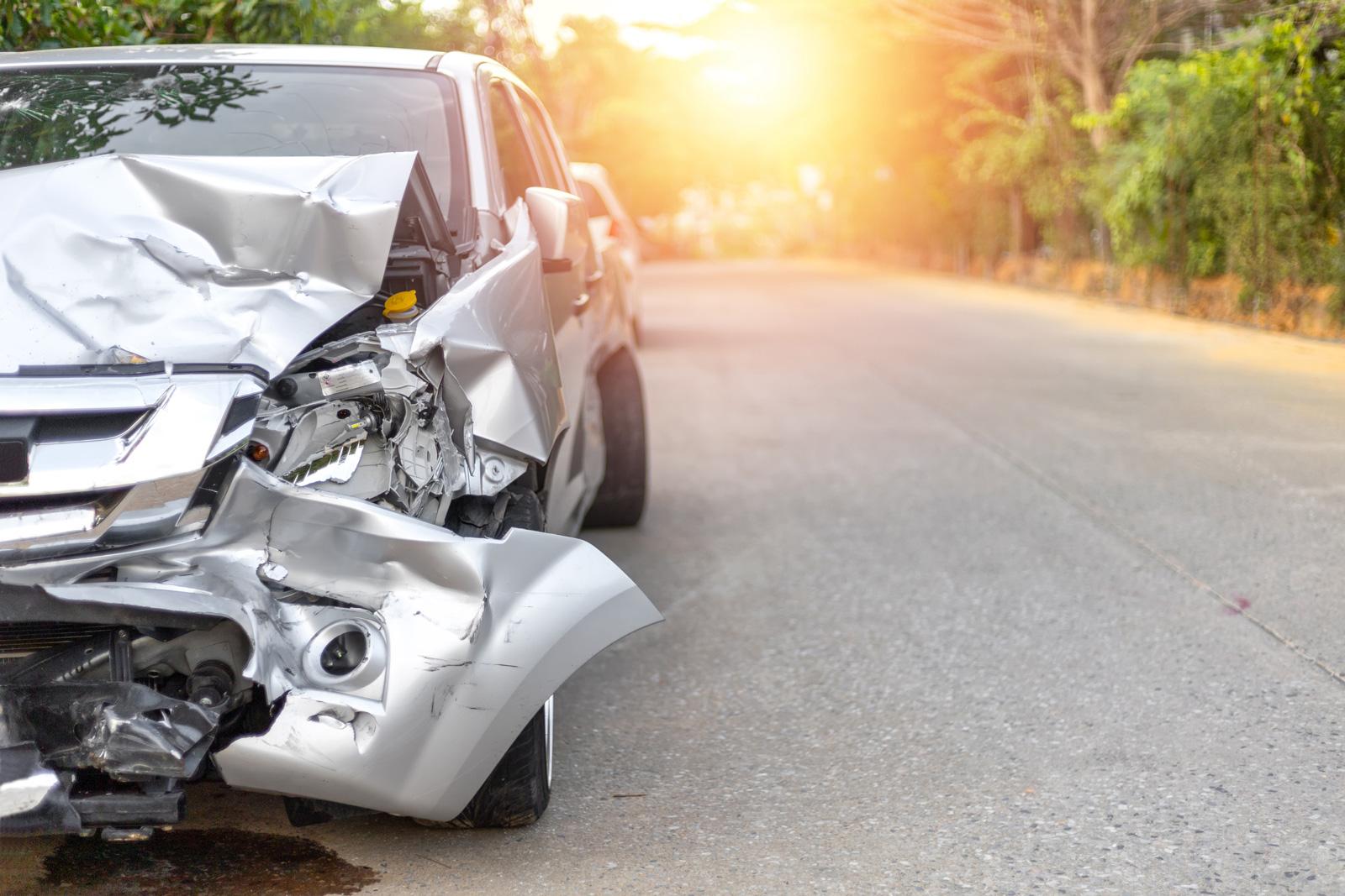 Totalschaden: Auto nach einem Verkehrsunfall