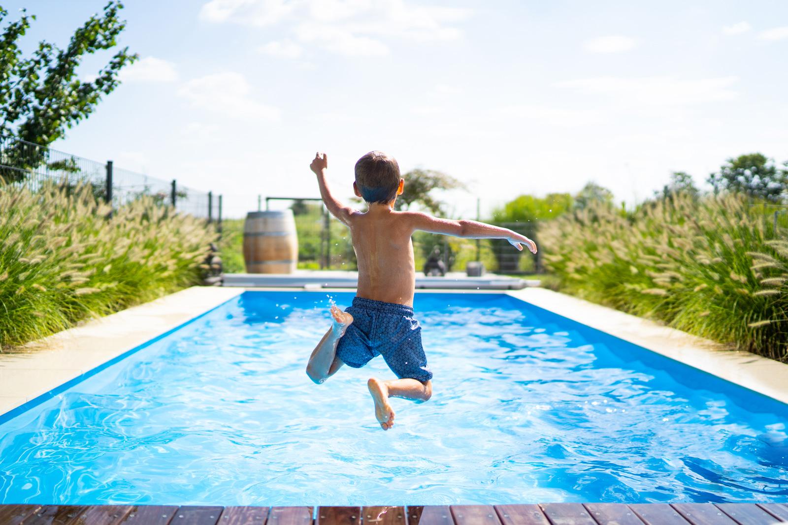 Für Kinder ein Traum: Baden im eigenen Garten