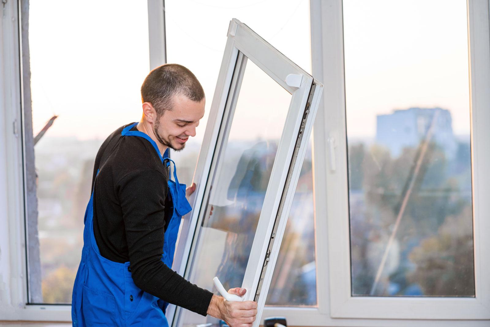 Kunststofffenster werden am häufigsten verwendet.