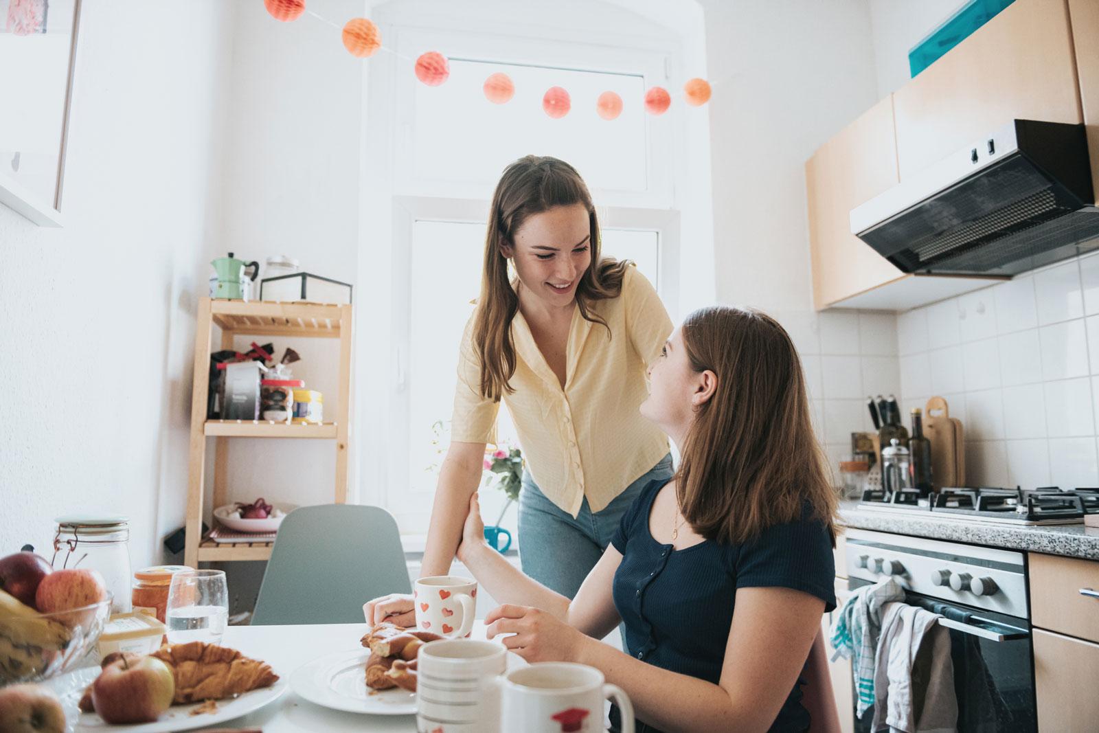 Die Küche darf erst einmal provisorisch eingerichtet sein.