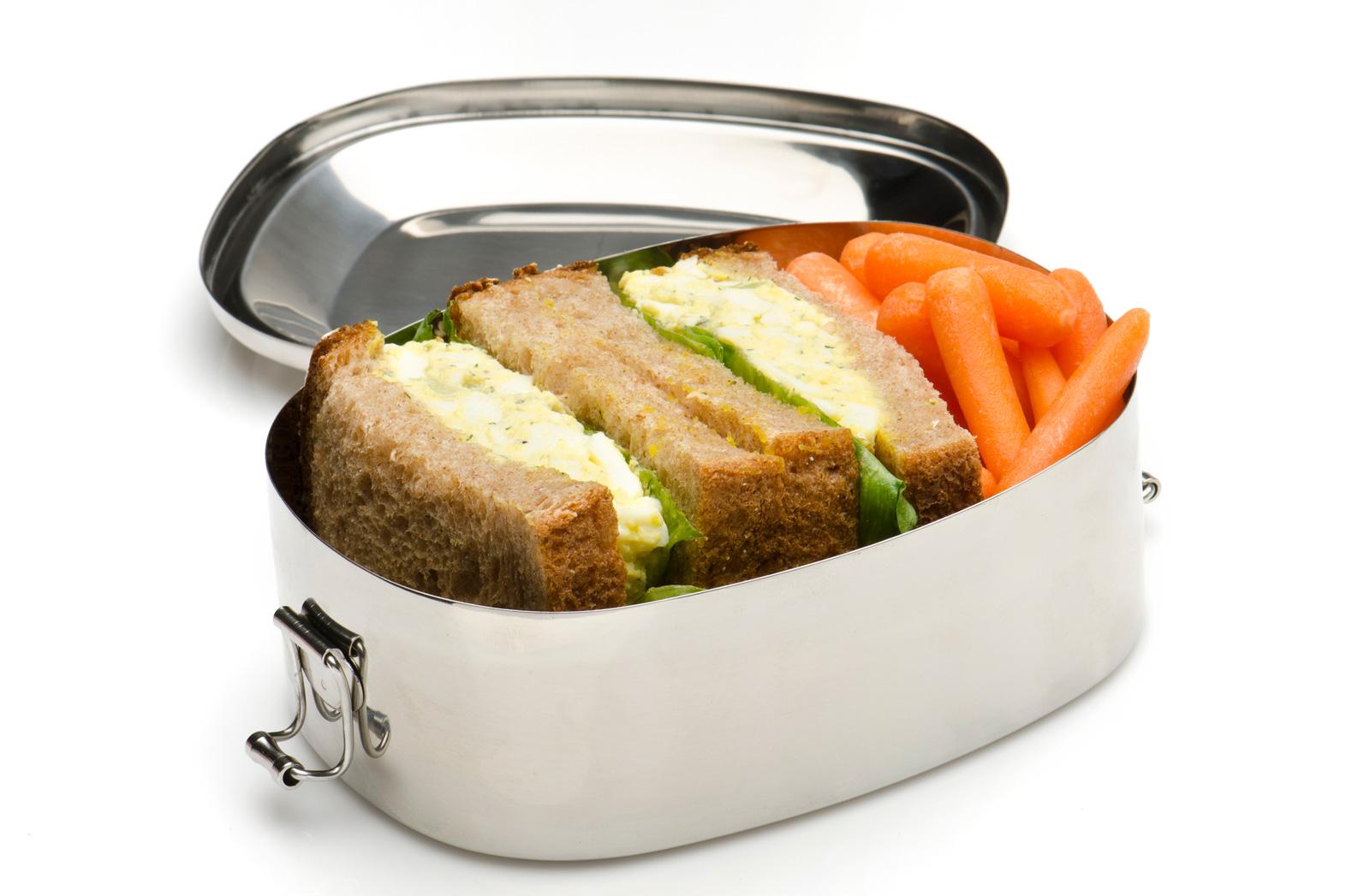 Brotdose aus Edelstahl
