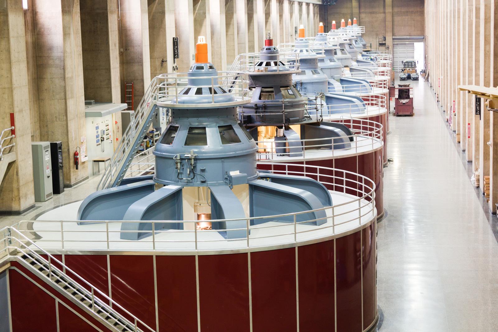 Wasserkraftwerk Turbinen am Hoover-Damm, USA