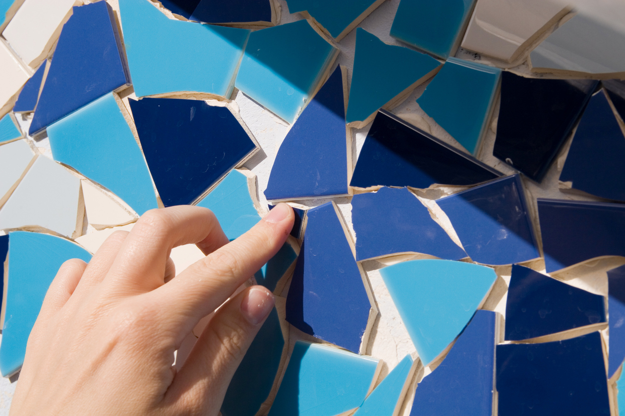 Puzzlen bis es passt: Mosaikfliesen sind flexibel einsetzbar.