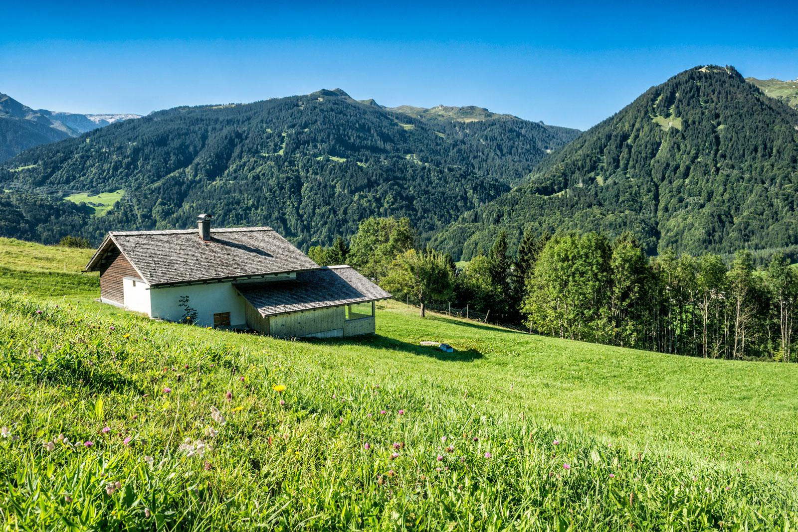 Traumhafter Blick: Berglandschaft in Vorarlberg