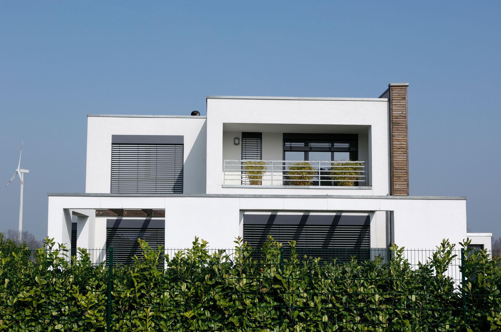 Aufgelockerte Architektur: Das Flachdach ermöglicht einen großen Spielraum bei der Hausgestaltung.