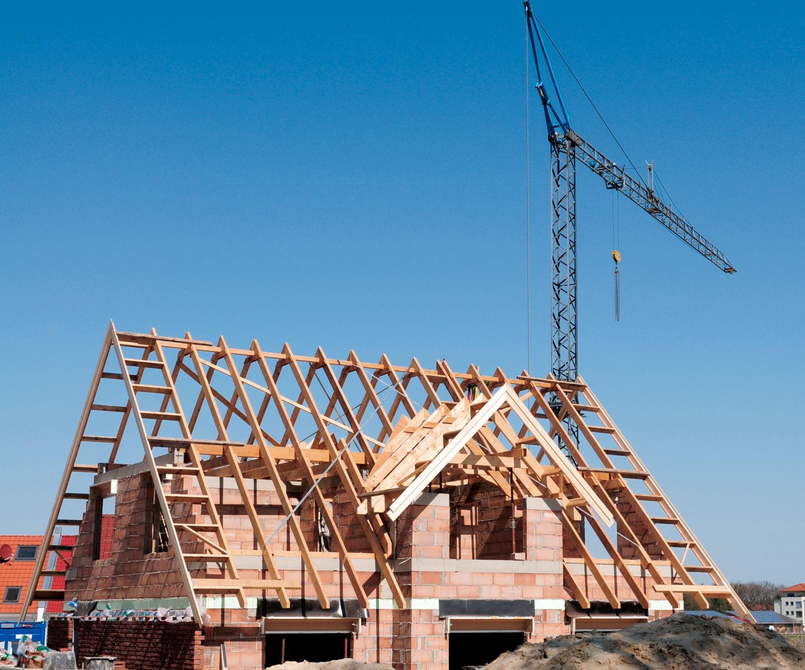 Von Anfang an versichert: Eine Rohbauversicherung schützt dein Haus bereits in der Entstehungsphase.