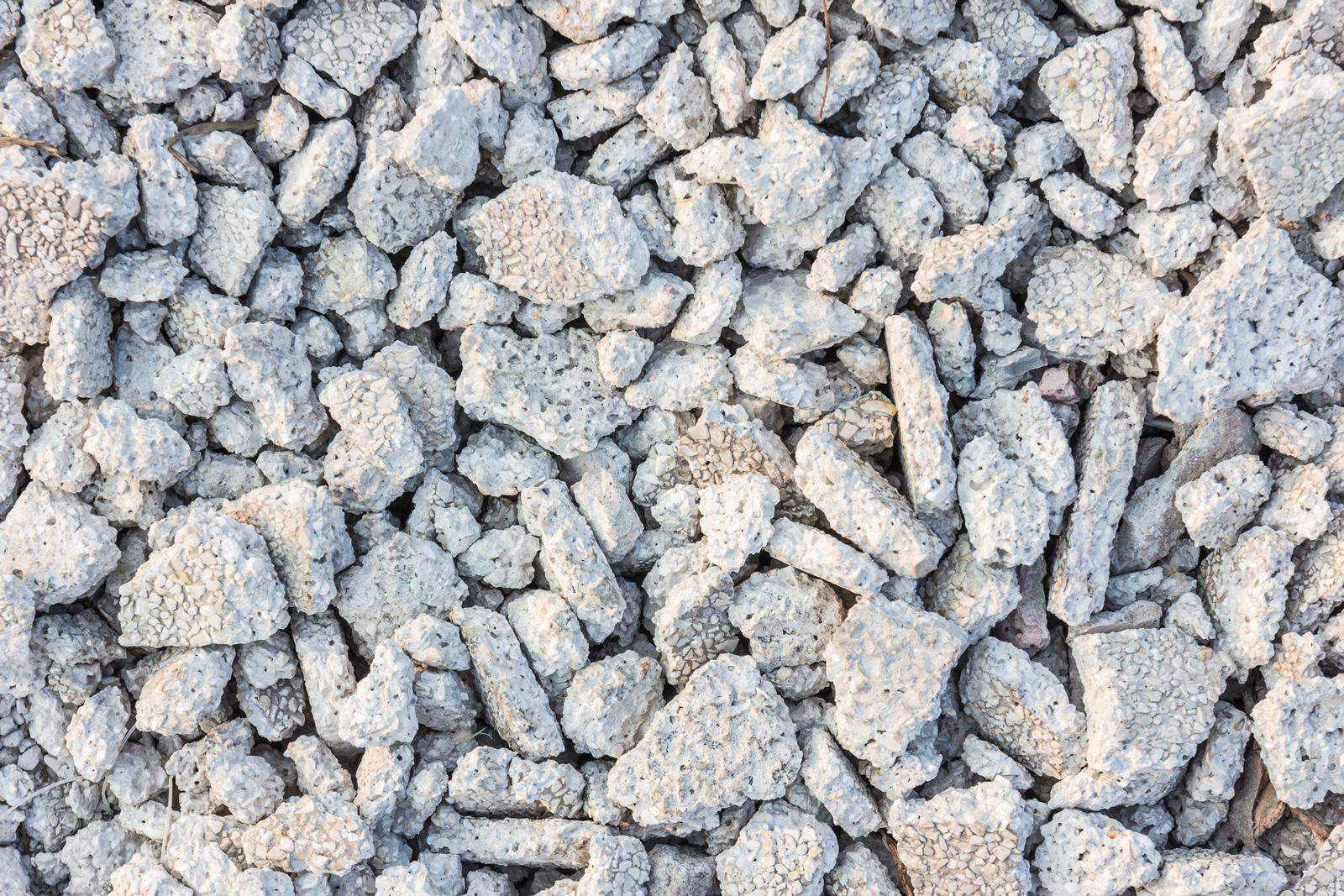 Neue Runde: Auch Beton kann recycelt werden.