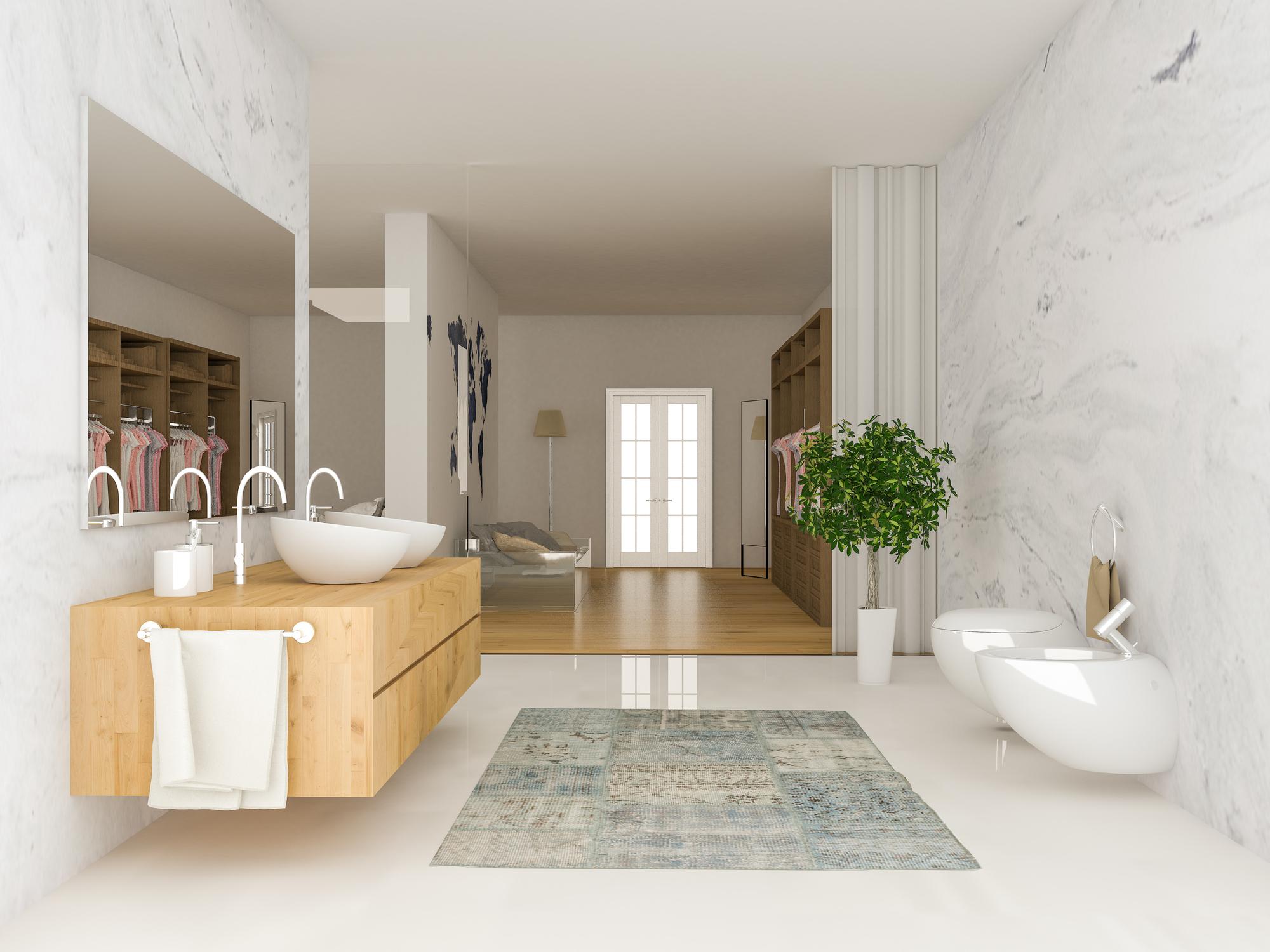 Offen, schlicht und smart: Das sind die Badezimmer-Trends 2018 ...