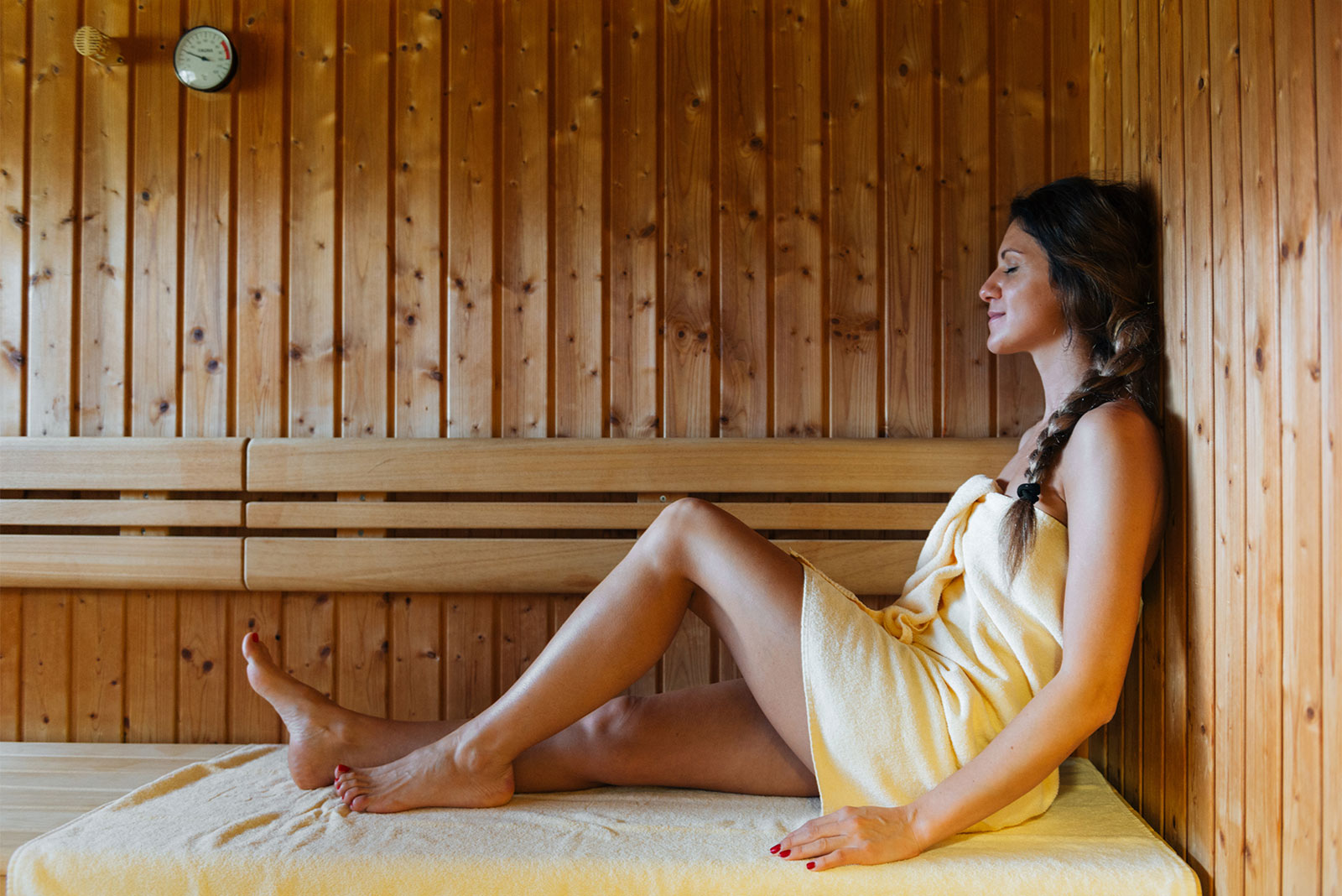 Zur Ruhe kommen, abschalten – das gelingt am besten in der Sauna.