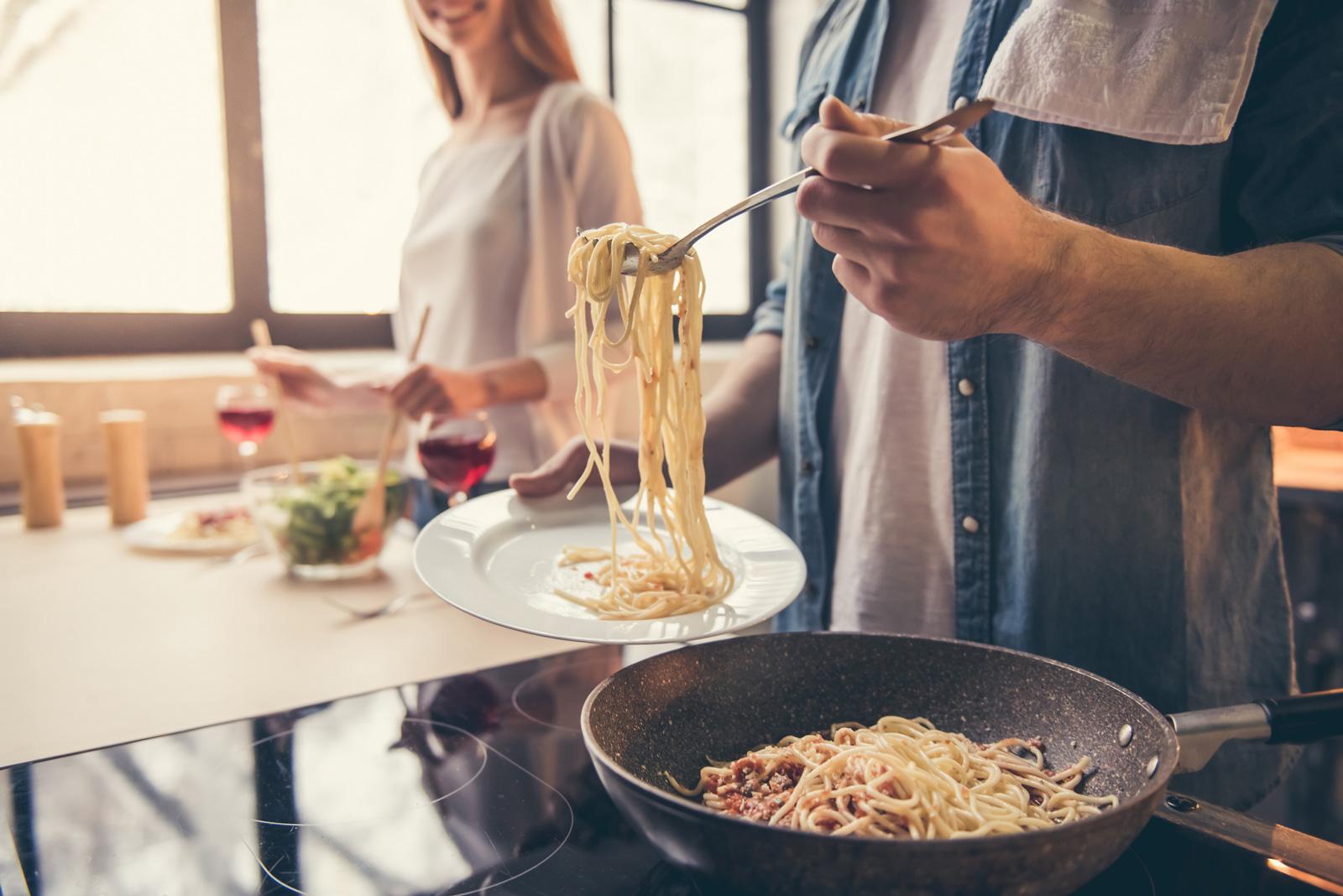 Praktisch: Essen in oder nahe bei der Küche