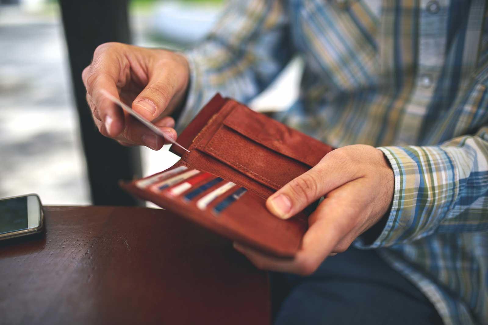 Klassisch: Brieftasche für Bargeld und Karten