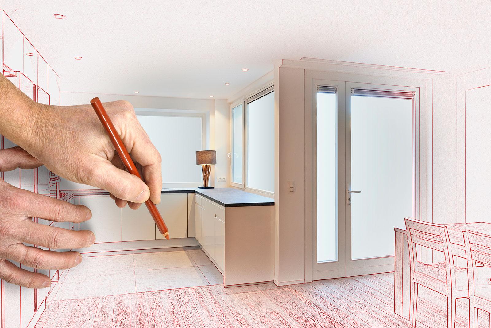 Nach Maß: Für eine gute Küchenplanung musst du die Raummaße genau kennen.