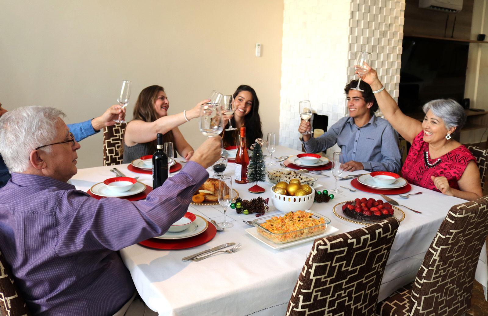 Auch in Brasilien wird im Familienkreis gefeiert.