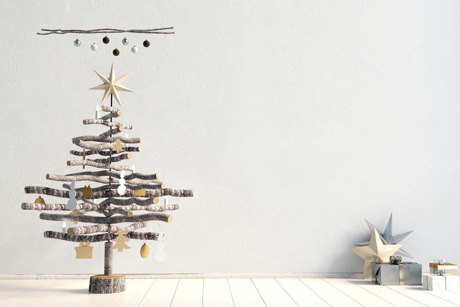 Für geschickte Bastler: 3-D-Baum aus Stöcken