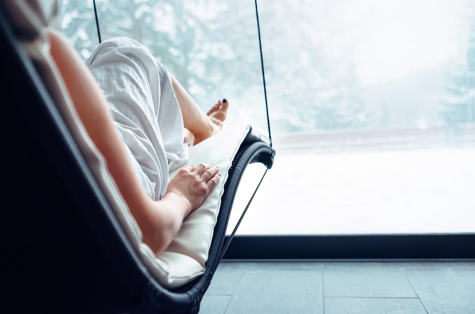 Kraft tanken: Kleine Wellness-Auszeiten tun dir im Winter besonders gut.