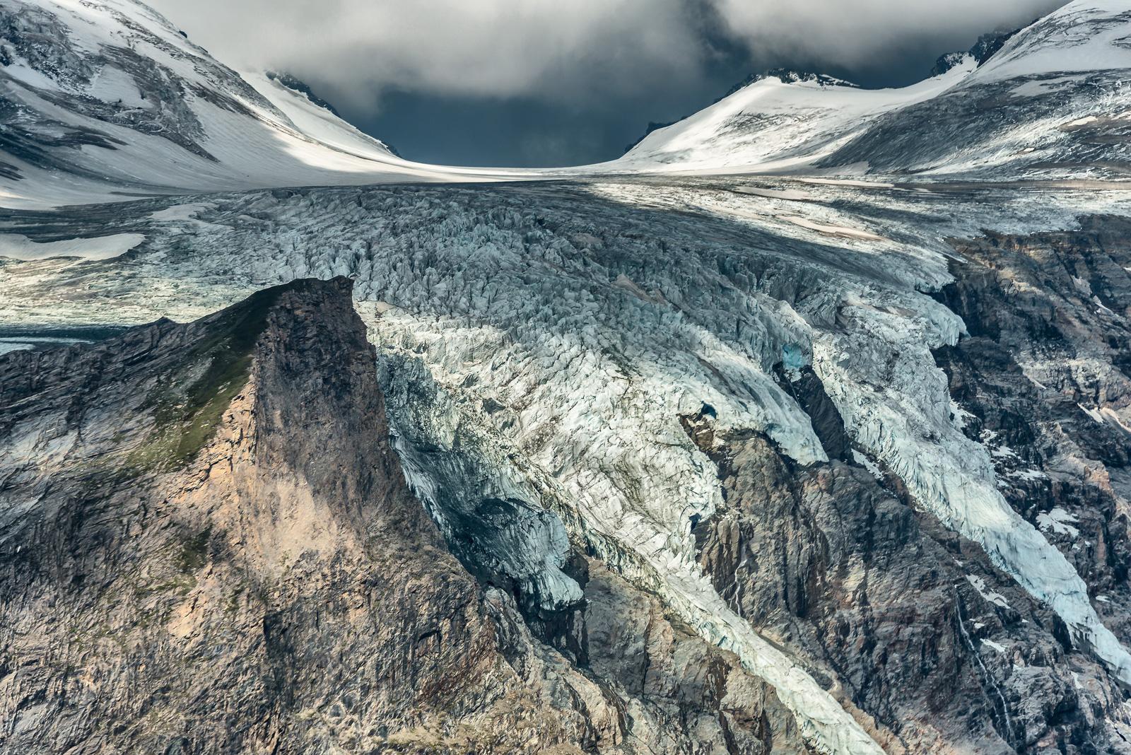 Gefährdetes Naturwunder: Der Pasterze-Gletscher am Großglockner