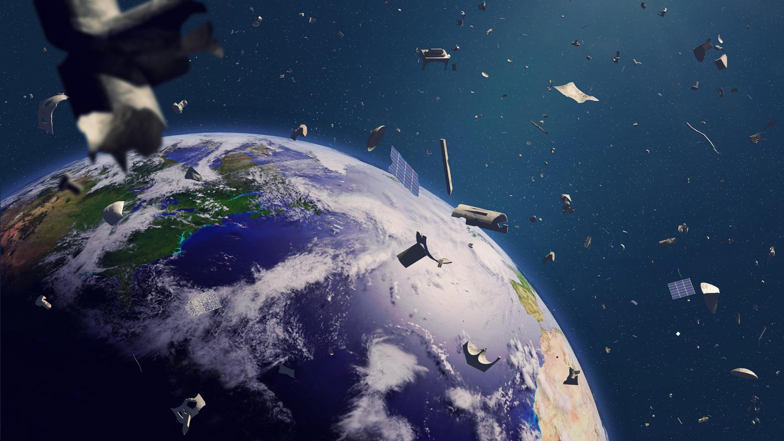 Menschen vermüllen auch den Weltraum