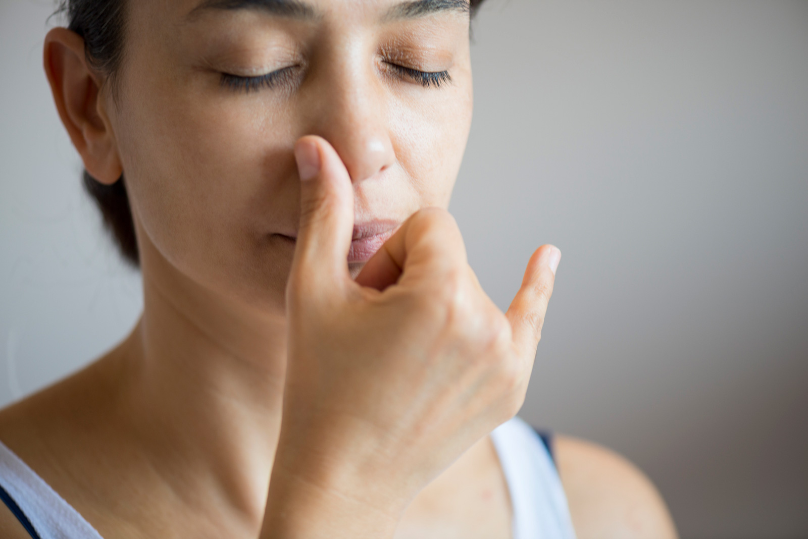 Beruhigend: Wechselatem jeweils nur durch ein Nasenloch