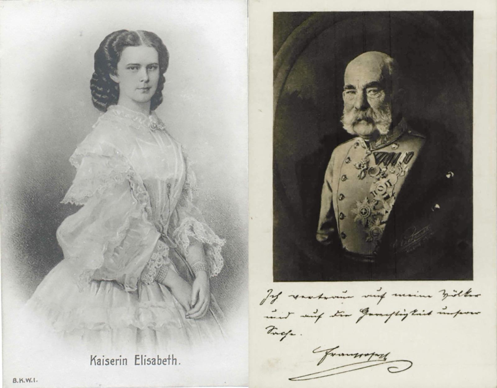 Beliebte Ansichtskarten-Motive: Kaiserin und Kaiser