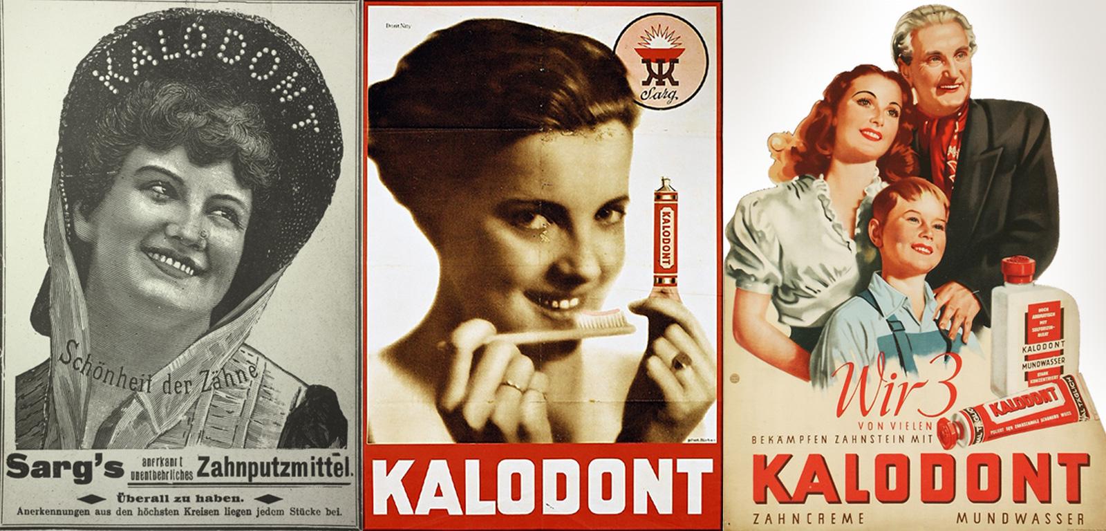 Werbung für die Zahnpasta des Wiener Unternehmens F.A. Sarg's Sohn & Co