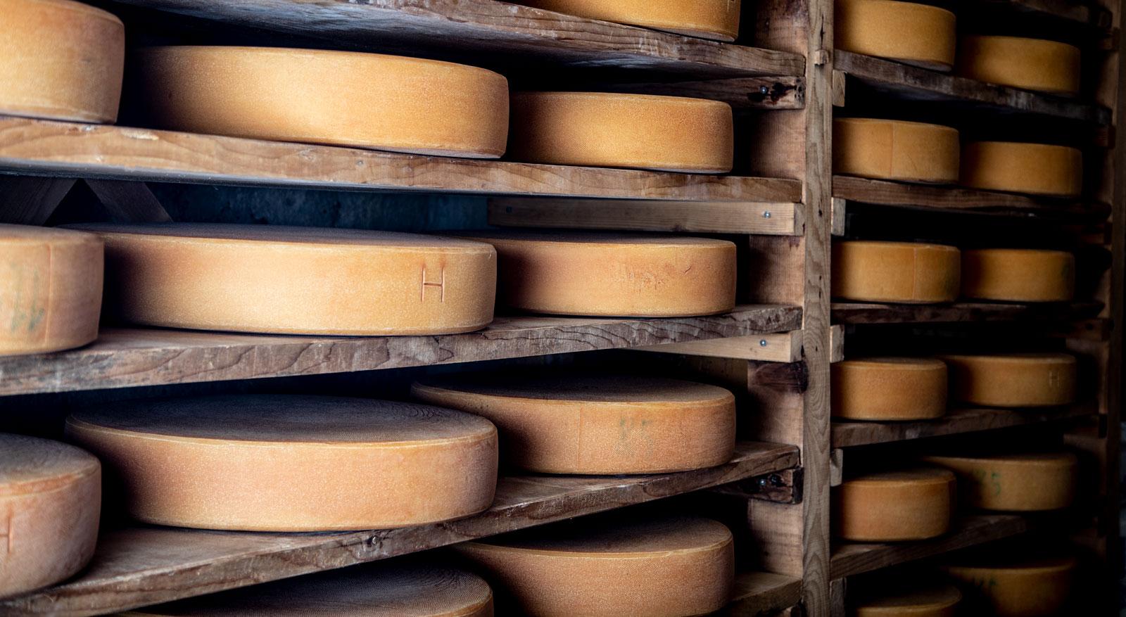 Regionale Spezialitäten als Einweihungsgeschenk, hier: Käse aus dem Bregenzerwald
