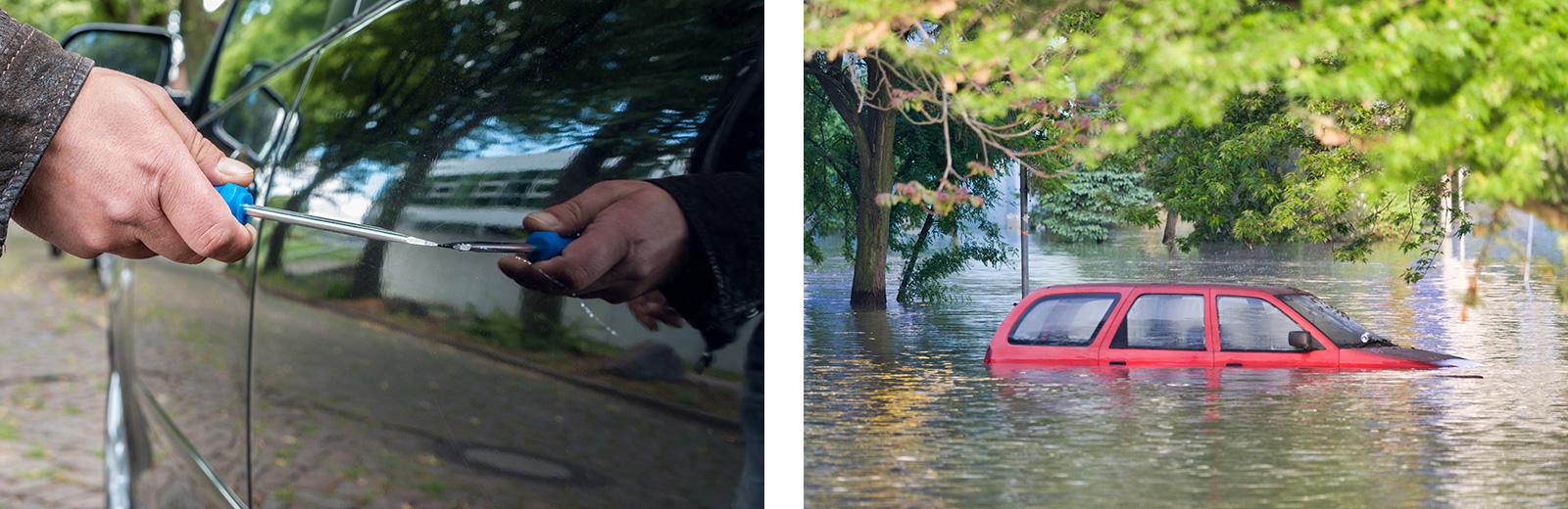 Fälle für die Kaskoversicherung: Vandalismus, Überwemmung