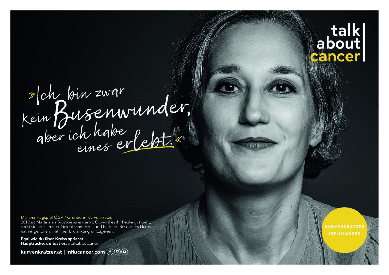 Neue Kampagne: Mit Kurvenkratzer – Influcancer machen Martina Hagspiel und ihr Verein Erkrankten und Angehörigen Mut.