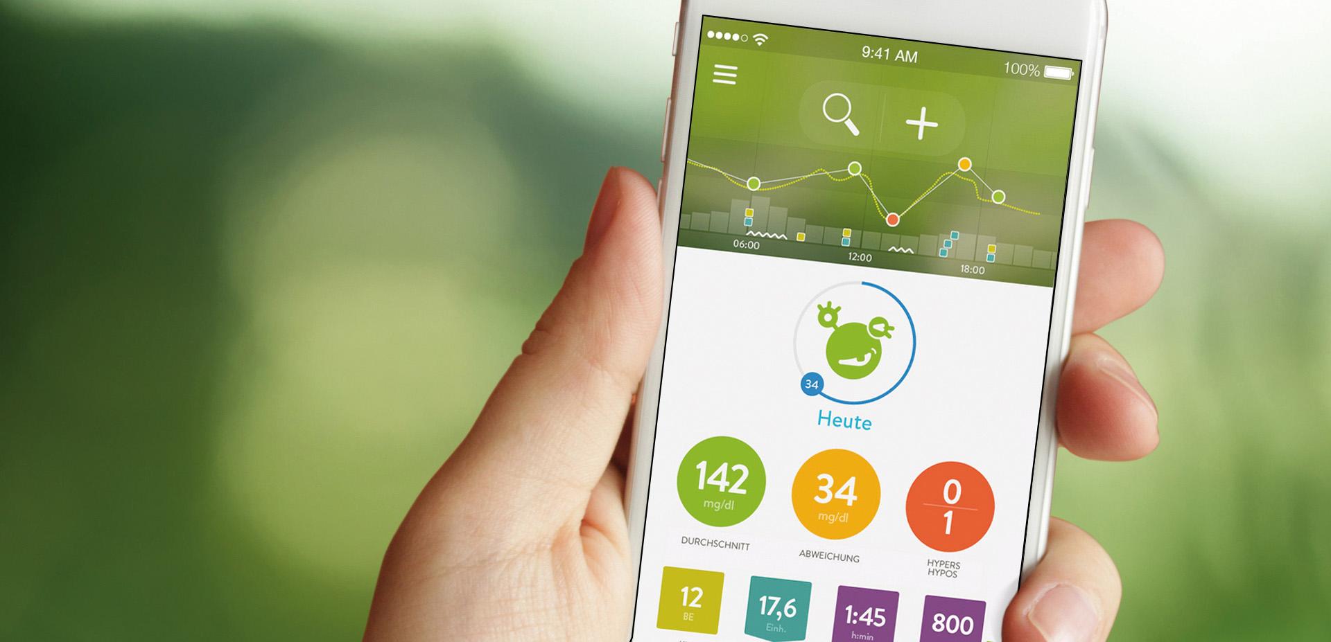 Das kostenlose Tagebuch begleitet durch den Alltag und soll die täglichen Diabetes-Herausforderungen zur Nebensache machen